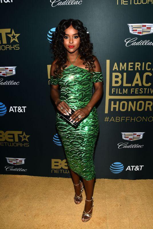 ANTOINETTE ROBINSON at American Black Film Festival in Los Angeles 02/25/2018