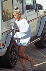 ARIANA GRANDE Out and About in Los Angeles 02/23/2018