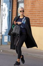 ASHLEE SIMPSON Arrives at a Gym in Los Angeles 02/20/2018