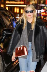 ASHLEY BENSON Out at Times Square in New York 02/09/2018