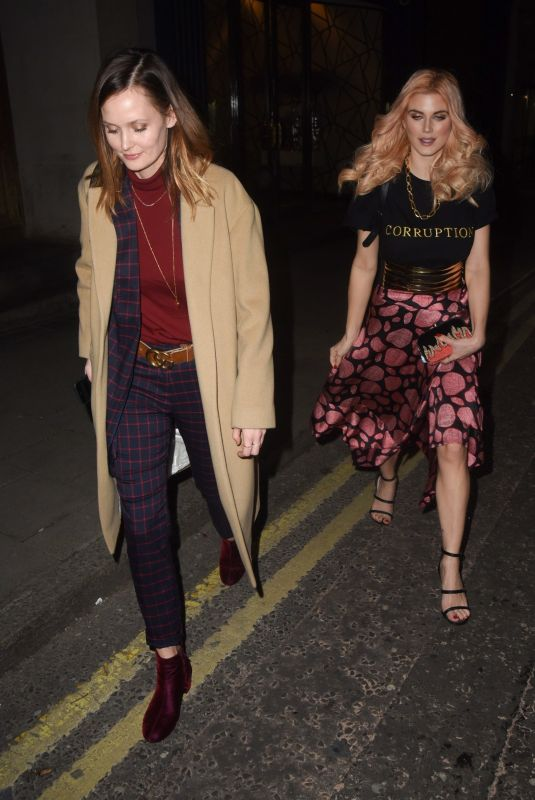 ASHLEY JAMES and CHARLOTTE DE CARLE at Global Gift Celebration Dinner in London 02/26/2018