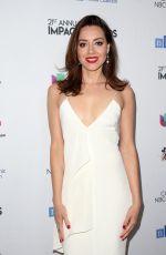 AUBREY PLAZA at 2018 National Hispanic Media Coalition Impact Swards in Beverly Hills 02/23/2018