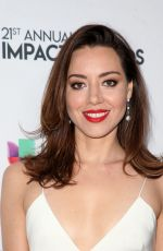 AUBREY PLAZA at Impact Awards 2018 in Los Angeles 02/23/2018