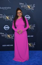 AVA DUVERNAY at A Wrinkle in Time Premiere in Los Angeles 02/26/2018