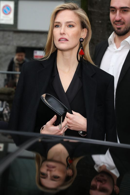 BAR REFAELI Arrives at Emporio Armani Fashion Show at MFW in Milan 02/25/2018
