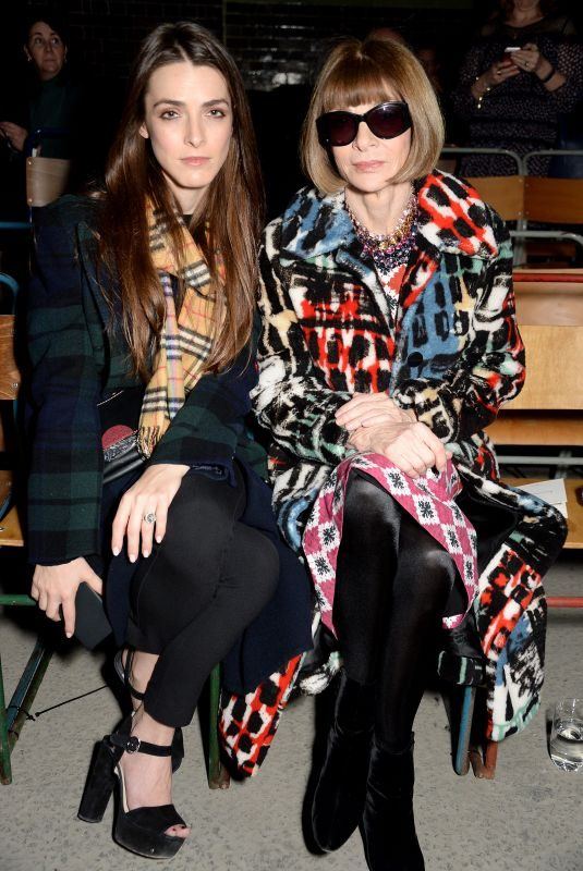 BEE SHAFFER and ANNA WINTOUE at Burberry Show at London Fashion Week 02/17/2018
