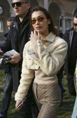 BELLA HADID Arrives at Alberta Ferretti Fashion Show in Milan 02/21/2018