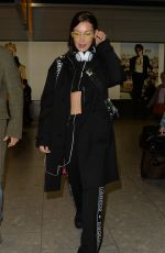 BELLA HADID Arrives at Heathrow Airport in London 02/19/2018