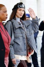 BELLA HADID Arrives at Michael Kors Fashion Show in New York 02/14/2018