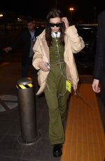 BELLA HADID at Airport in Milan 02/25/2018