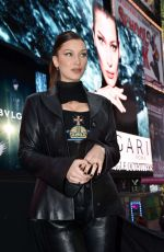 BELLA HADID at Bulgari Unveils New B.Zero1 Jewelry Campaign at Times Square in New York 02/07/2018