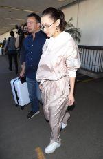 BELLA HADID at LAX Airport in Los Angeles 02/16/2018