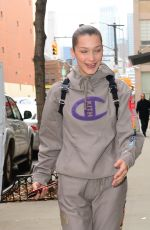 BELLA HADID Heading to a Gym in New York 02/06/2018