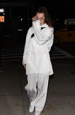 BELLA HADID in White Tracksuit Out in New York 02/06/2018