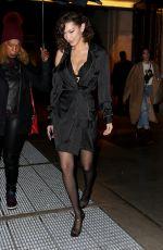 BELLA HADID Leaves Alexander Wang Fashion Show at NYFW in New York 02/10/2018