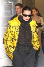 BELLA HADID Leaves Brandon Maxwell Fashion Show at NYFW in New York 02/11/2018