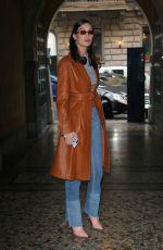 BELLA HADID Leaves Cavalli Fitting at 2018 Milan Fashion Week 02/22/2018