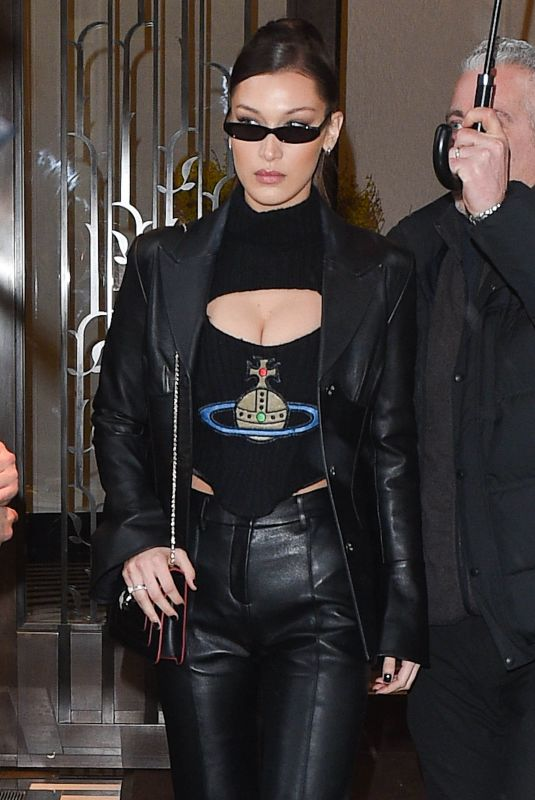 BELLA HADID Leaves Her APartment in New York 02/07/2018