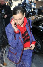 BELLA HADID Leaves Her Hotel in Paris 02/26/2018