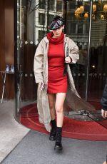 BELLA HADID Leaves Her Hotel in Paris 02/27/2018