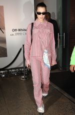 BELLA HADID Leaves Jimmy Choo + Off-white Event in New York 02/11/2018