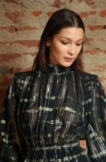 BELLA HADID on the Backstage of Alberta Ferretti Fashion Show at MFW in Milan 02/21/2018
