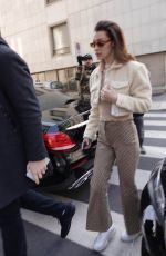 BELLA HADID Out and About in Milan 02/21/2018