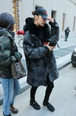 BELLA HADID Out and About in New York 02/02/2018