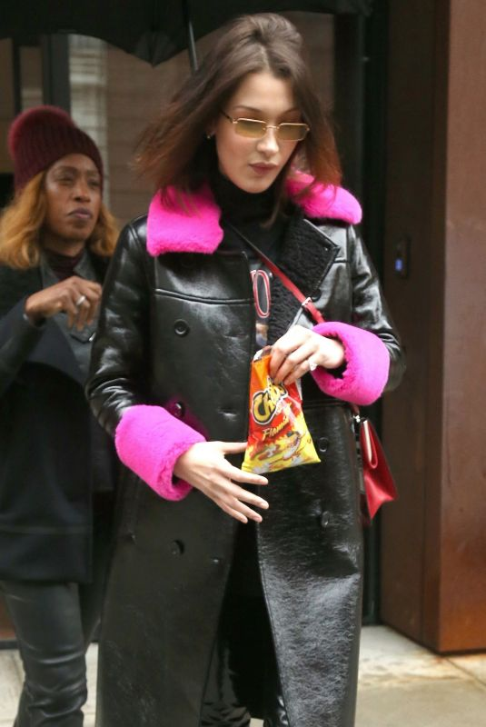 BELLA HADID Out and About in New York 02/10/2018