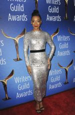 BETTY GABRIEL at Writers Guild Awards 2018 in Beverly Hills 02/11/2018