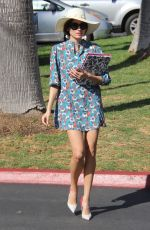 BLANCA BLANCO in Floral Print Dress Out in Malibu 02/03/2018