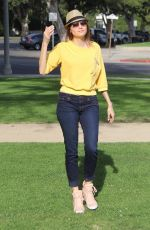 BLANCA BLANCO Out at a Park in Beverly Hills 02/01/2018