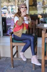 BLANCA BLANCO Out for Coffee and Frozen Yogurt in Malibu 02/23/2018