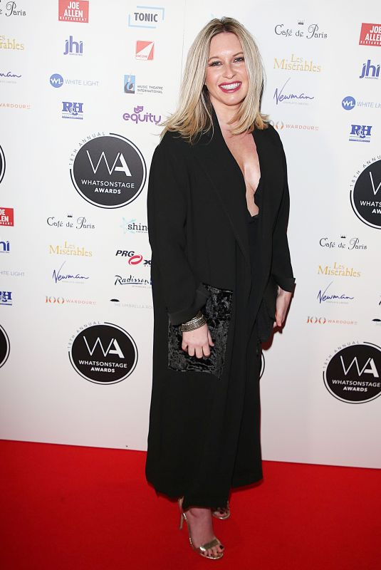 BROOKE KINSELLA at Whatsonstage Awards in London 02/25/2018