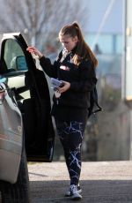 BROOKE VINCENT Arrives at Dancing on Ice Training in Manchester 02/07/2018