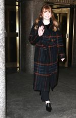 BRYCE DALLAS HOWARD Arrives at Today Show in New York 02/15/2018