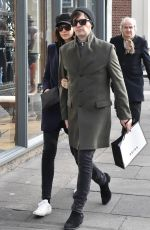 CAITRIONA BALFE and Tony McGill Out in Dublin 02/16/2018