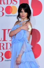 CAMILA CABELLO at Brit Awards 2018 in London 02/21/2018