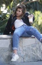 CAMILA MORRONE Falls off a Rock Wall at a Park in Los Angeles 02/07/2018