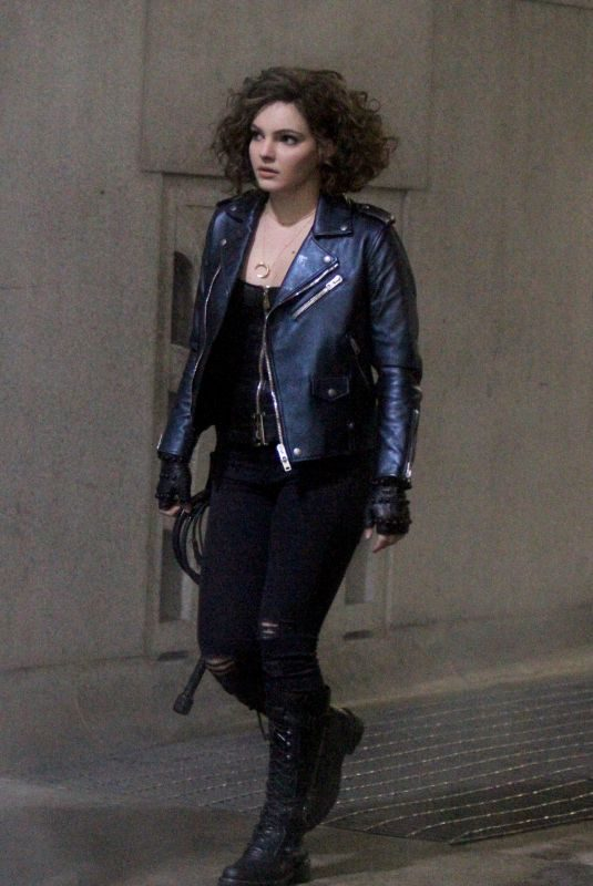 CAMREN BICONDOVA on the Set of Gotham in Wall Street in New York 02/10/2018