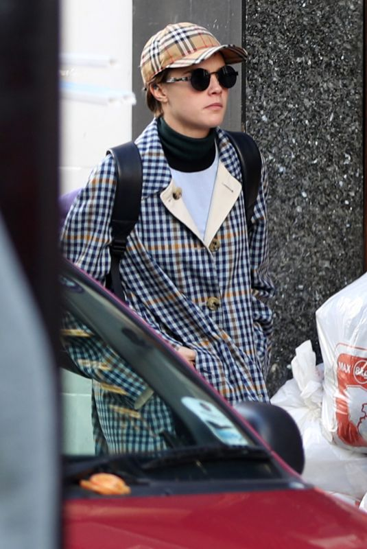 CARA DELEVINGNE Out at London Fashion Week 02/17/2018