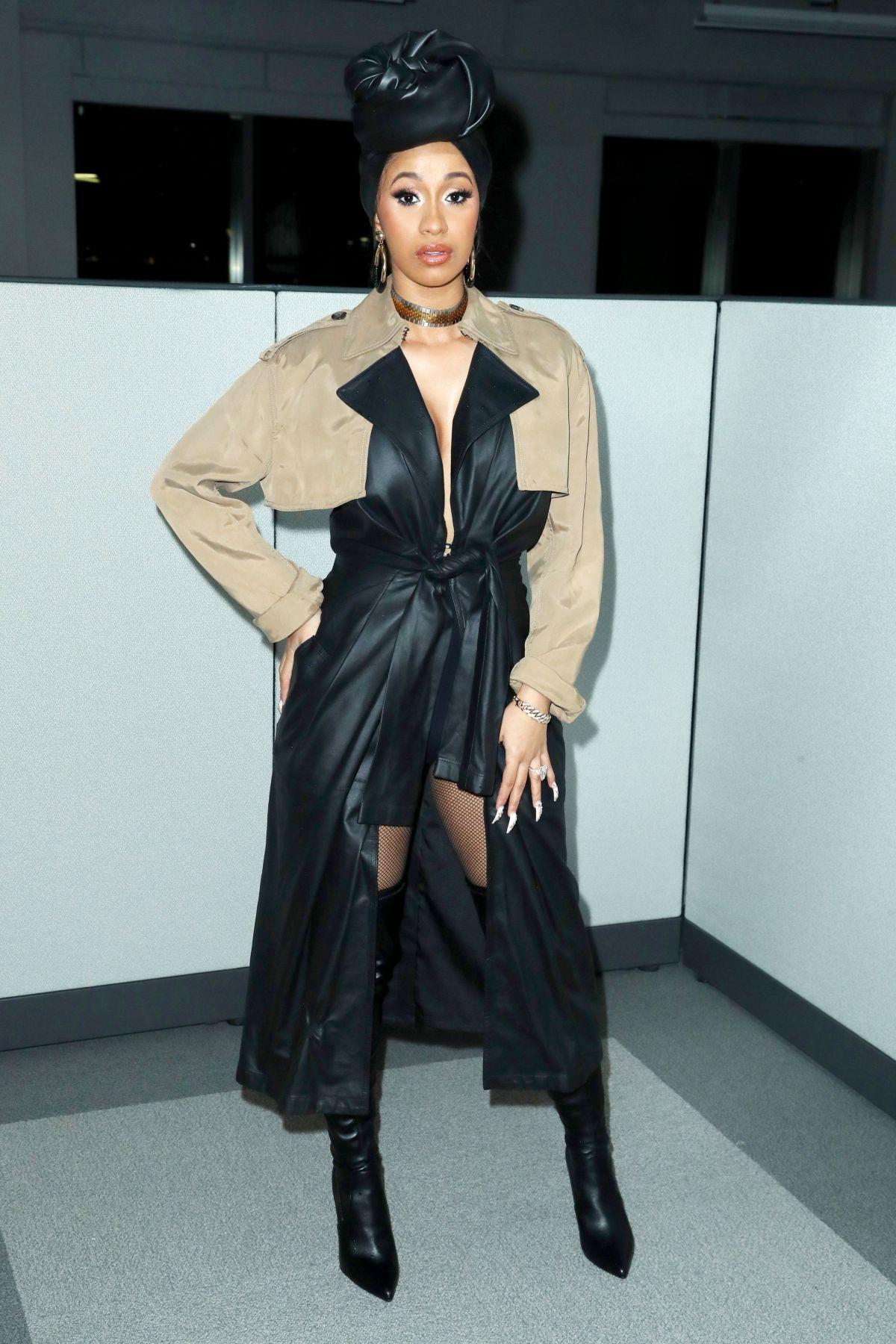 Cardi B Fashion: CARDI B At Alexander Wang Show At New York Fashion Week 02