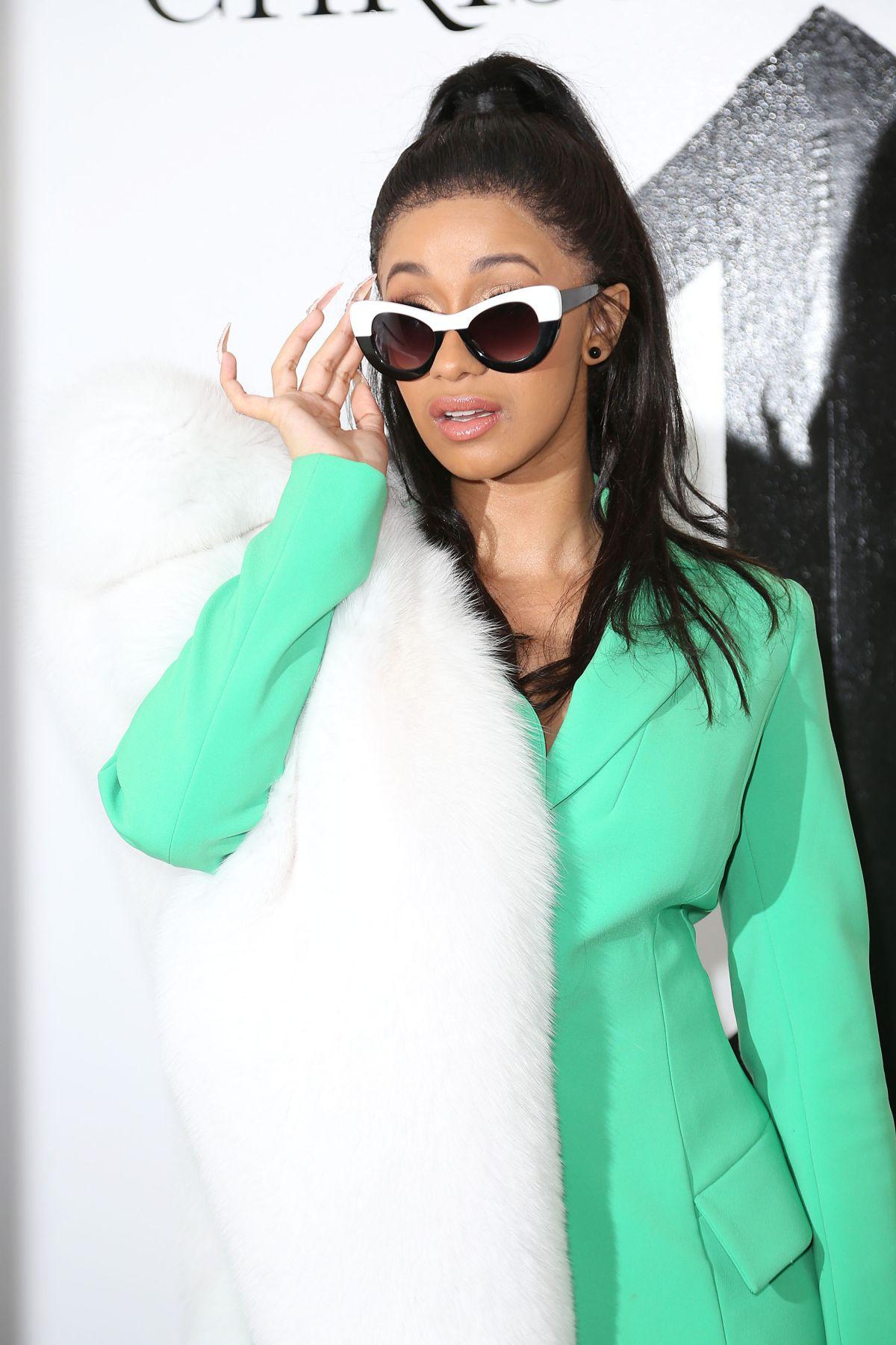 CARDI B at Christian Siriano Fashion Show at NYFW in New York 02/10/2018 - HawtCelebs