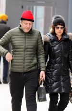 CARLA GUGINO and Sebastian Gutierrez Out and About in New York 02/09/2018