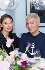 CAROLINE DAUR at Sandra Choi and Virgil Abloh Host NYFW Dinner in New York 02/11/2018