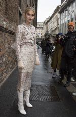 CAROLINE DAUR Leaves Max Mara Fashion Show in Milan 02/22/2018