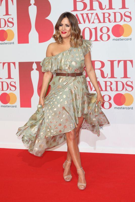 CAROLINE FLACK at Brit Awards 2018 in London 02/21/2018