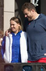 CAROLINE WOZNIACKI and David Lee Out and About in New York 02/21/2018