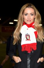 CATHERINE TYLDESLEY Arrives at AJ Bell Stadium in Manchester 02/02/2018