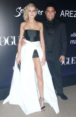 CELINA LOCKS and Ronaldo at Vogue Carnival Ball in Sao Paulo 02/01/2018